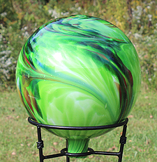 Green Gazing Ball